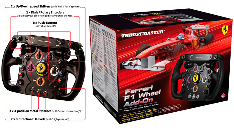 thrustmaster ferrari f1 wheel add on piededivino. Black Bedroom Furniture Sets. Home Design Ideas